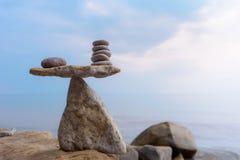 Zen równowaga kamienie obraz stock