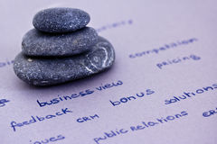 Zen and relax in the business environment Royalty Free Stock Images