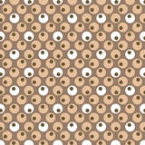 Zen repeat. Illustrated seventies style wallpaper with a seamless repeat design Royalty Free Stock Photos