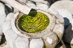 Zen Rock Fountain Water Feature Arkivbild