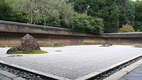 Zen Rock Garden Stockbild