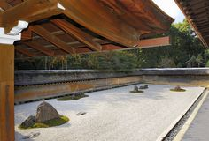 Zen Rock Garden Royaltyfri Bild