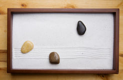 Zen Rock Garden Stock Photo