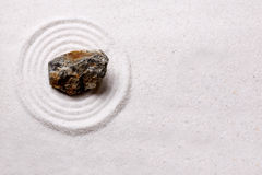 Zen Rock Garden Background Stock Photo