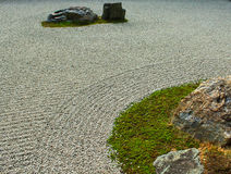 Zen Rock Garden in Kyoto, Japan Stock Photo