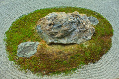 Zen Rock Garden in Kyoto, Japan Royalty Free Stock Photography