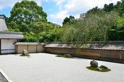 Zen rock garden, Kyoto Japan summer. Stock Photos