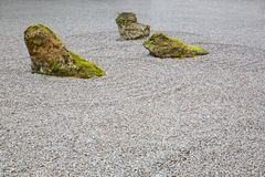 Zen Rock Garden Royalty Free Stock Photography