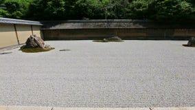 Zen Rock Garden in Ryoan-ji Temple, Kyoto, Japan stock video footage