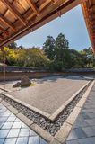 Zen Rock Garden at Ryoanji, Japan Royalty Free Stock Photography