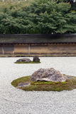 Zen Rock Garden in Ryoanji Temple. Stock Photos
