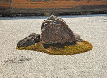 Zen rock garden at Ryoanji temple Stock Photography