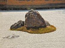 Zen rock garden at Ryoanji temple Stock Photography