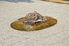 Zen rock garden at Ryoanji temple Stock Photos