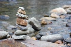 Zen Rock Pile Stockfoto
