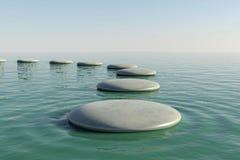 Zen rock pool Royalty Free Stock Image