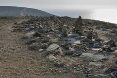 Zen Rock Sculptures, isola di Rodi Immagini Stock Libere da Diritti