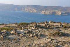 Zen Rock Sculptures, Rhodes island Stock Image