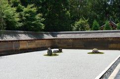 Zen rockowy ogród, Kyoto Japonia lato Obrazy Stock