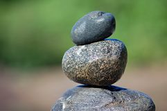 Zen Rocks. Rocks stacked one one top of another Stock Image