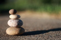Zen rocks. For meditation. Being at peace using beginners mind stock images