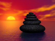 Zen Rocks Royalty Free Stock Images