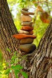 Zen Rocks. Zens rocks stacked in a spiritual location Royalty Free Stock Photography