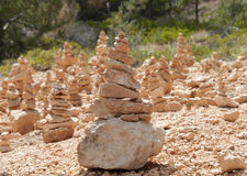 Zen Rocks at Bryce Canyon. Field of balancing rocks at Bryce Canyon by Katharina Notarianni Royalty Free Stock Photo