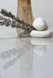 Zen rocks lavender and scents stock image