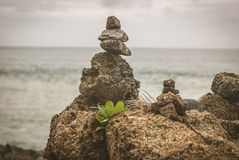 Zen rocks. For meditation. Being at peace using beginners mind Stock Image