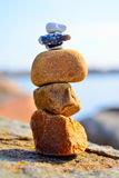 Zen Rocks. By the ocean Stock Images