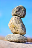 Zen Rocks. By the ocean Stock Images