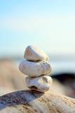 Zen Rocks. By the ocean Stock Image