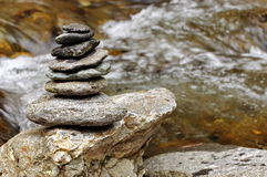 Feng shui. Zen rocks and water Stock Images