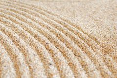 Zen sand pattern Stock Photo