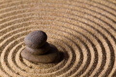 Zen sand stone garden Royalty Free Stock Photography