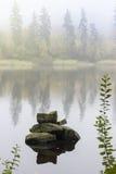 Zen Scene. Stones in Lake Royalty Free Stock Images