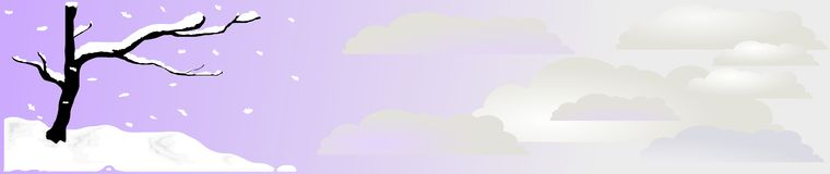 Zen-Schnee-Vorsatz 2, Vektor Stockbild
