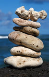 Zen Serenity Rocks. White coral rocks stacked by a meditating zen follower Royalty Free Stock Image