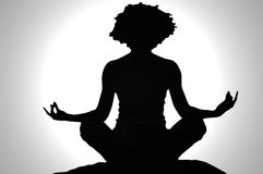 Zen silhouette Royalty Free Stock Photo