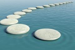 Zen skały basen Zdjęcie Royalty Free