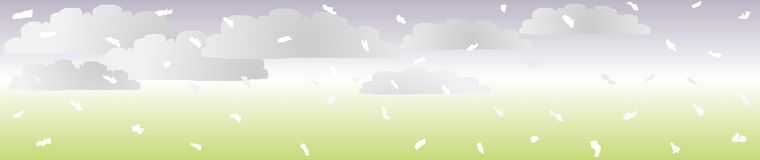 Zen Snow Header 3, Vector Stock Photography