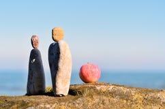Zen-som att balansera Fotografering för Bildbyråer