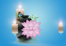 Zen spa affiche royalty-vrije illustratie