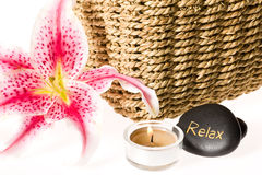 Zen spa lily Royalty Free Stock Images