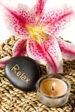 Zen spa lily Stock Photography