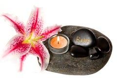 Zen spa lily Stock Photo