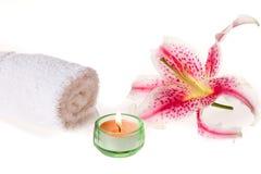 Zen spa lily Stock Photos