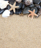 Zen spa river rocks and shells on Stock Photo