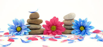 Zen spa therapiestenen Stock Foto